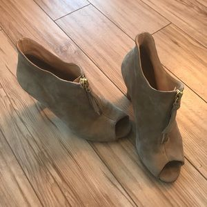 Paul Green open-toe suede booties